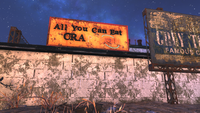 FO76 Crab Shack sign