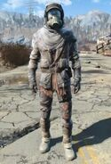 Fallout 4 tattered field jacket with accessories