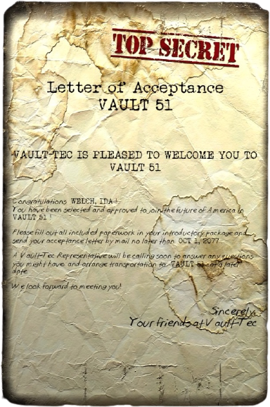 Letter from Vault-Tec (Fallout 76)