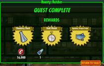 FoS Bounty Butcher rewards
