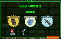 FoS Caps Run rewards