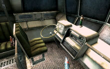 FO3 City Liner interior driver's workplace