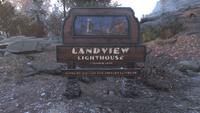 Landview Lighthouse sign