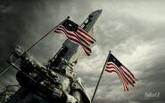 American flag BoS at Washington Monument