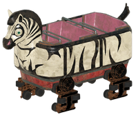 FO76 Log ride zebra cart