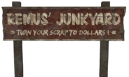 FO76CC Remus' Junkyard sign