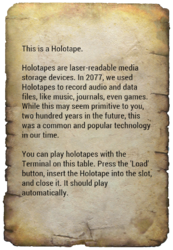 Holotape instructions.png