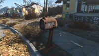 Mailbox Hawthorne residence