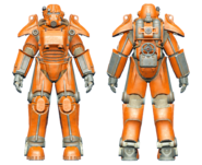 FO4CC T-45 power armor orange