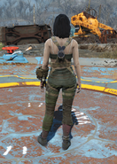 Gunner Harness, Back View (Female)