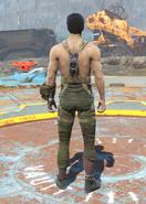 Gunner Harness, Back View (Male)