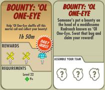 FoS Bounty 'Ol One-Eye card