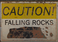 FO4 Poster caution falling rocks