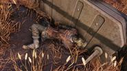 FO76 Brotherhood corpse Firebase Major 2