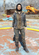 Winter jacket and jeans female