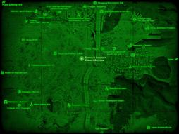 FO4 Военный блокпост Южного Бостона (карта мира).png