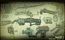 Art of Fallout 3 homemade weapons CA1