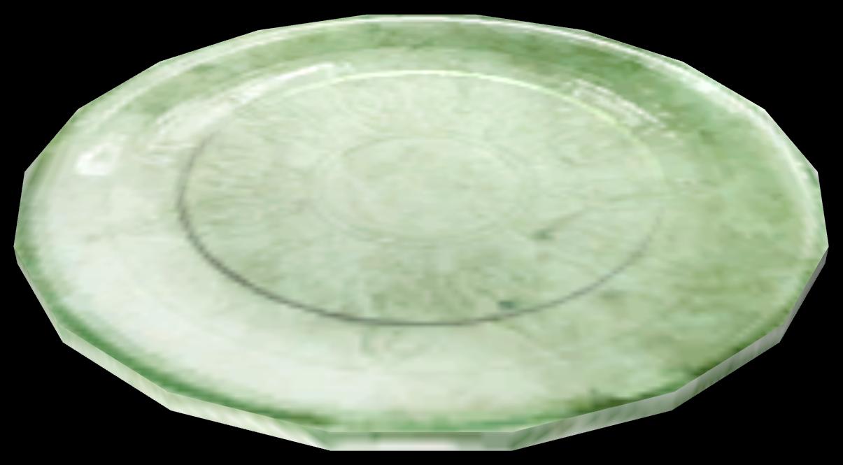 Зелёная тарелка
