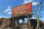 FO4 Nuka Cola Red Rocket billboard