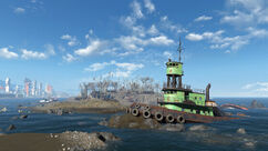 FO4 Spectacle Island (Destroyed boat).jpg