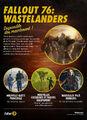 FO76 Feuille de route Wastelanders