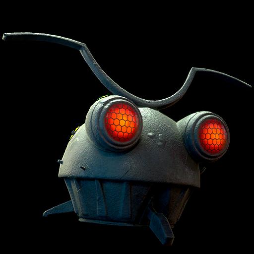 Metal mothman mask