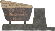 FO76 Ranger district office sign