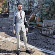 FO76 Twitch Clean Striped Suit Front