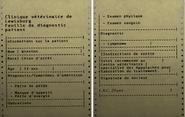 FO76 Feuille de diagnostic du vétérinaire