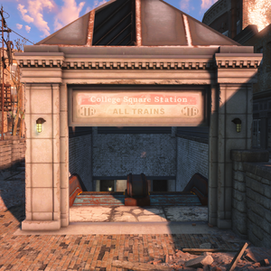 FO4 College Square Station Entrance.png