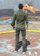 Gunner Flannel Shirt and Jeans, Back View (Male)