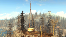FO4FH Ruined radio tower1.png