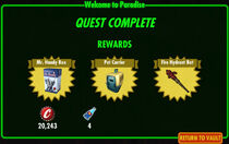 FoS Welcome to Paradise rewards