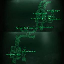 Metro Tenleytown Friendship Station map.png