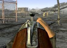 Shotgun aiming down