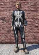 FO76 Halloween Costume Skeleton