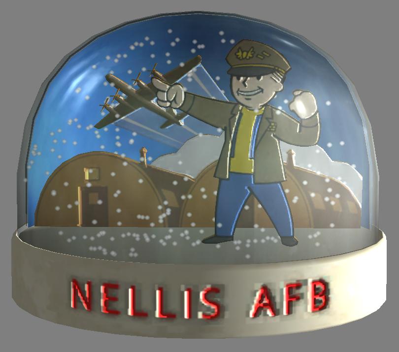 Snow globe - Nellis AFB
