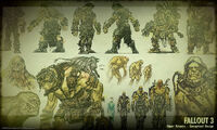 Art of Fallout 3 super mutants CA1