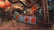 FO4 Halloween in Diamond City
