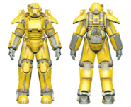 FO4CC T-45 power armor yellow