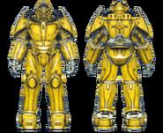 FO4CC X-02 power armor yellow