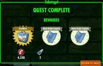 FoS Sabotage - rewards