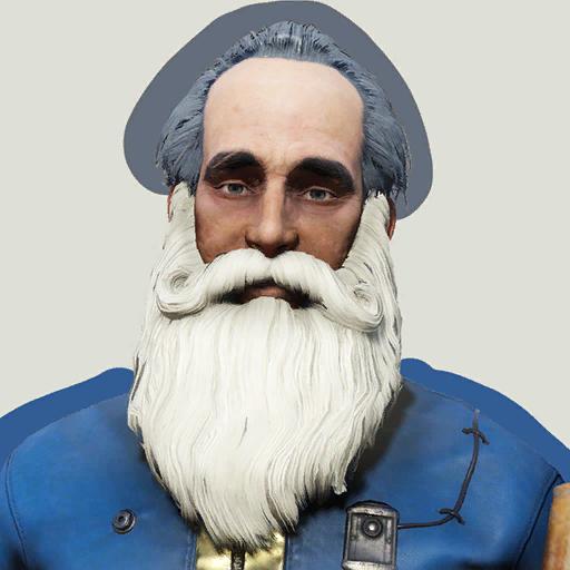 Mr. Claus' beard