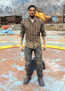 FO4 Flannel shirt and jeans male