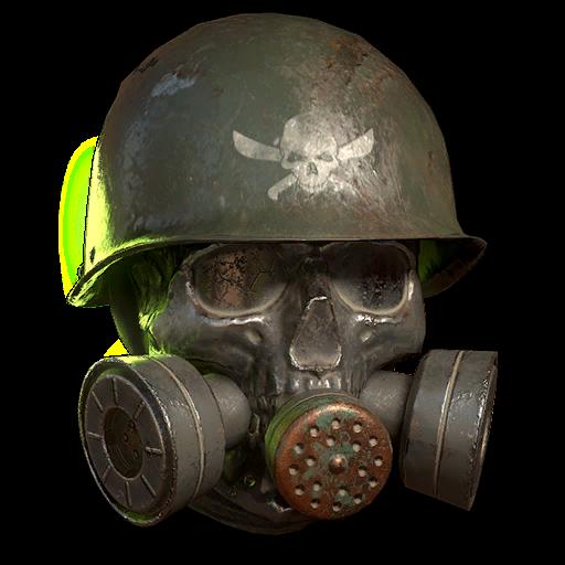 Armored raider skull gas mask