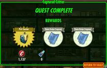 FoS Captured Critter rewards