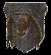 Mounted frog
