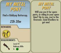 FoS My Metal Pony card