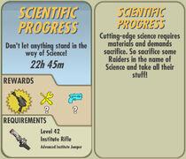 FoS Scientific Progress card