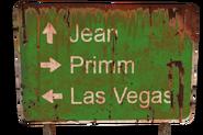 FNV Jean Primm LV road sign